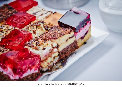 Assortment of pieces of cake