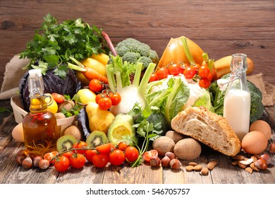 assortment of raw food