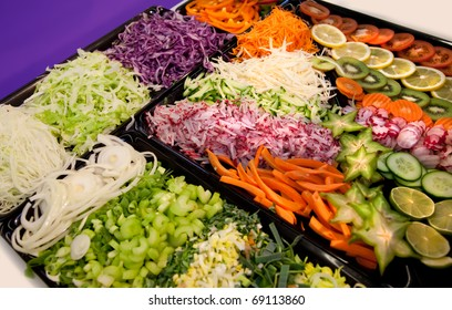 assortment of sliced vegetables