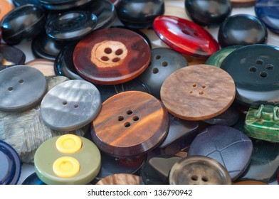 Assortment of various buttons for clothes