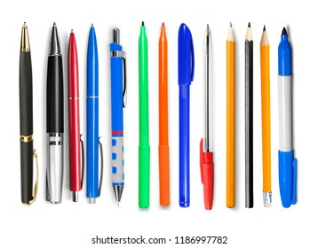 Assortment of various Chancery isolated on white