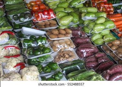 Assortment of vegetables in packing