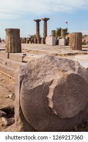 Assos Ancient city in Aegean coast Turkey.