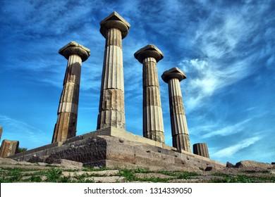 Assos ancient city and Apollon Temple in Behramkale, Ayvacik