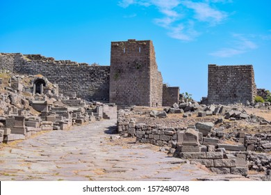 Assos ancient city and Athena Temple in Behramkale, Ayvacik. Turkey