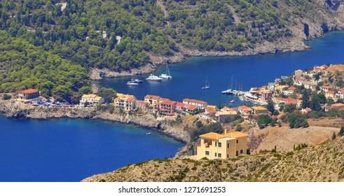 Assos, Kefalonia view, Greece.