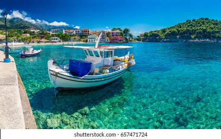 Assos on the Island of Kefalonia in Greece.