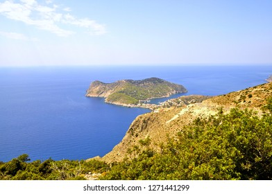 Assos town view from hill. Kefalonia,Greece