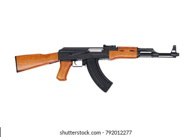 Assult Rifle AK47 Isolated On White Background