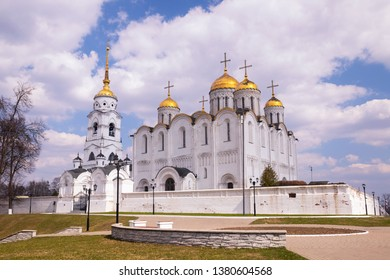 Assumption of the Blessed Virgin Mary. Ancient architectural monument of the 12th century, Vladimir, Russia.