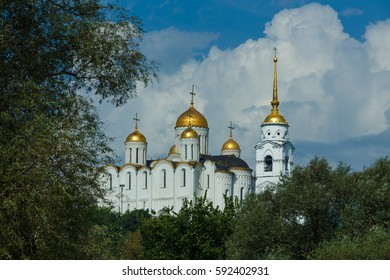 Assumption Cathedral with bell tower in Vladimir, Russia.