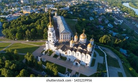 Assumption Cathedral in the historical center of Vladimir