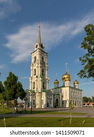 Assumption Cathedral in the Kremlin of Tula. Cathedral of the Assumption of the Blessed Virgin in the Kremlin. Tula Kremlin. Russian landmark.