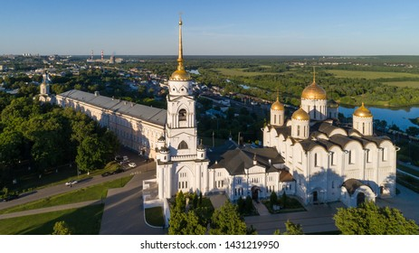 Assumption Cathedral - the main landmark of Vladimir, Golden ring of Russia