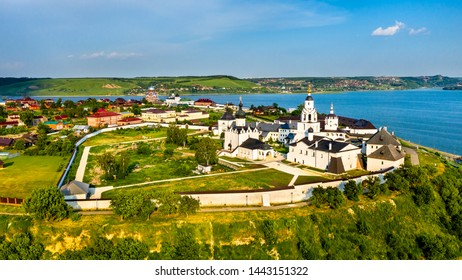 The Assumption Cathedral and Monastery in the town-island of Sviyazhsk. UNESCO world heritage in Russia