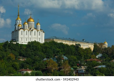 Assumption Cathedral on a hill in the ancient town Vladimir