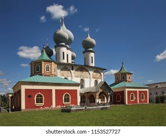 Assumption Cathedral at Tikhvin Assumption Monastery in Tikhvin. Leningrad oblast. Russia