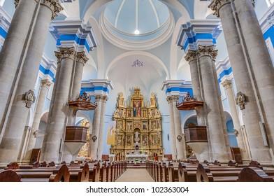 Assumption church shrine at Calaceite in Teruel, Spain's Aragon Province