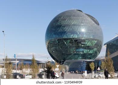 Astana city, Kazakhstan, 2  october 2018, Nur Alem pavilion