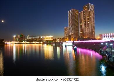 Astana  cityscape.  Astana is the capital of Kazakhstan