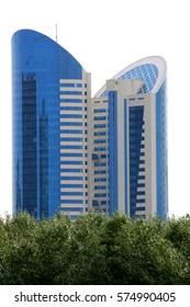 Astana. July 5, 2011. Kazakhstan. Modern architecture of the capital of the Republic of Kazakhstan. City landscape. Summer, sunny day.