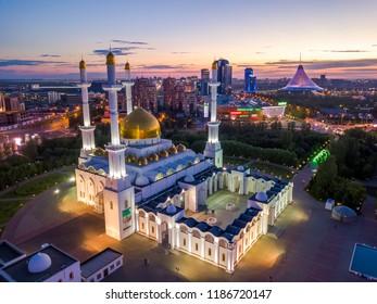 Astana / Kazakhstan - 06.25.2018: Nur Astana Mosque in Astana
