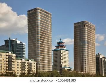 ASTANA. KAZAKHSTAN. 10 JUIY 2016 : View of modern district at Astana. Kazakhstan