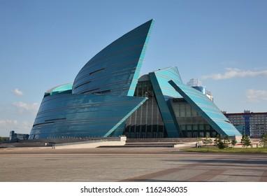 ASTANA. KAZAKHSTAN. 10 JUIY 2016 : Kazakhstan Central Concert Hall in Astana. Kazakhstan
