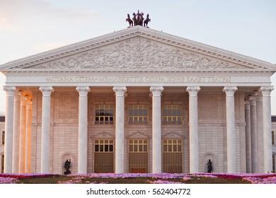 "ASTANA, KAZAKHSTAN - August 3, 2016 : State opera and ballet theatre ""Astana Opera"""