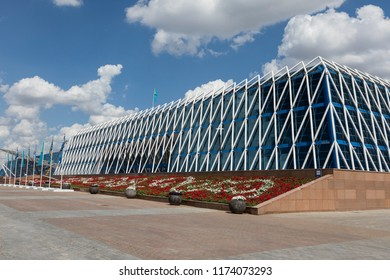 Astana, Kazakhstan, August 3 2018: The Palace of Independence building in Astana, the capital of Kazakhstan