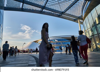 "Astana, Kazakhstan - July 28, 2017/ Expo Center - 2017 in Astana. View in the International Specialized Exhibition ""Astana EXPO-2017"""