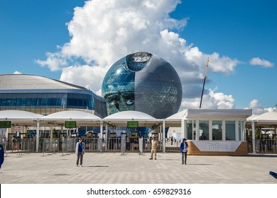 """Astana, Kazakhstan - June 10, 2017: View of the Building of the International Specialized Exhibition """"Astana EXPO-2017"""""""
