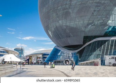 "Astana, Kazakhstan - June 10, 2017: View of the Building of the International Specialized Exhibition ""Astana EXPO-2017"""