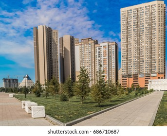 Astana Kazakhstan June 22, 2017.Modern buildings, offices and residences in Astana, Kazakhstan, in the business district of the new capital of Kazakhstan.