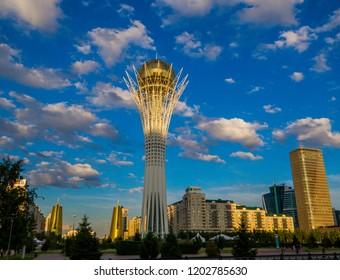ASTANA, KAZAKHSTAN - JUNE 22, 2018: View of the Baiterek Tower.