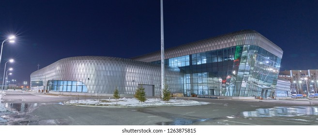 Astana, Kazakhstan - March 31, 2018: ASTANA HUB in Expo Center in Astana