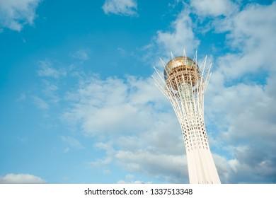 ASTANA, KAZAKHSTAN - Sep 2018: skyscrapers in Kazakhstan