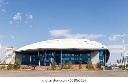 Astana, Kazakhstan - September 6, 2016: Saryarka, the Republican cycle track