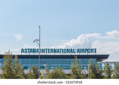 Astana, Kazakhstan - September 6, 2016: International airport of Astana