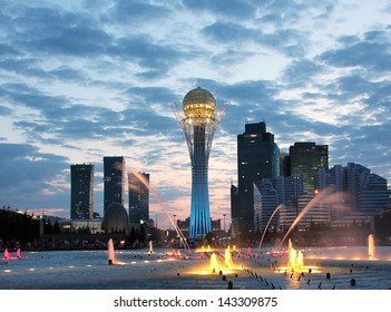 Astana Kazakhstan sightseeing by night