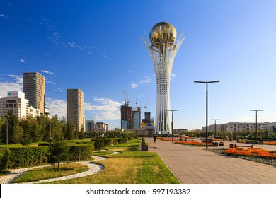 Astana tower center of the city
