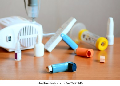 Asthma treatments, drugs and related equipment. Using nebulizer, inhaler, peak flow meter, spacer, anti-inflammatory drugs to manage asthma. Chronic inflammatory disease of bronchi