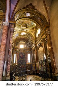 Asti, Italy - January 1, 2019. Lateral apse of The Saint Secondo Catholic Church, Collegiate  di San Secondo. Asti, Piedmont, Italy.