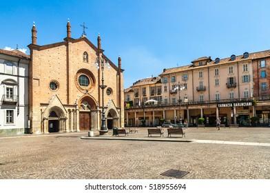 Asti, Italy - July 9, 2016: Church Of San Secondoin Asti. Italy