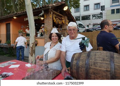 Asti, Italy - Septmber 2018: Traditional Food and wine event held in Asti on the second Sunday of September.