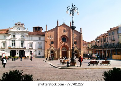 Asti, Piedmont, Italy St. Secondo square with the city hall and church of St.Secondo