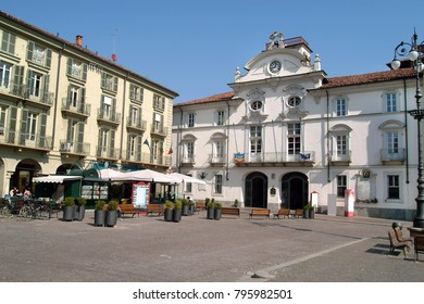 Asti, Piedmont, Italy St. Secondo square with the city hall