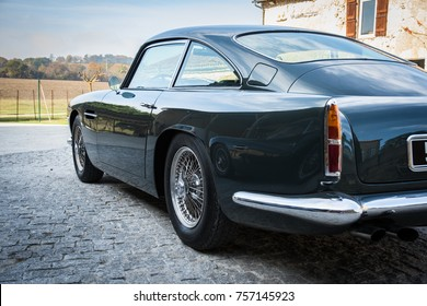 Aston Martin DB4 Classic Car, France, 2017