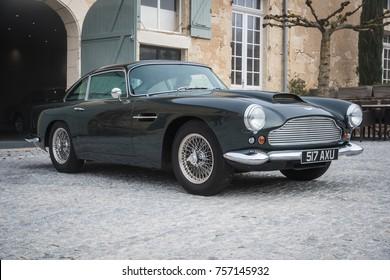 Aston Martin DB4 Classic Car, France, 2017