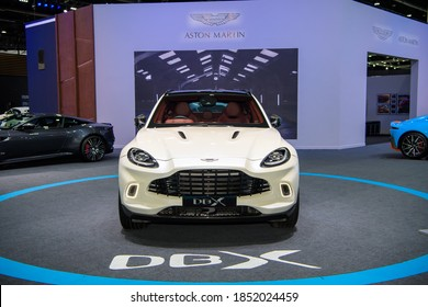 Aston Martin DBX  on display at THE 41st BANGKOK INTERNATIONAL MOTOR SHOW 2020 on July 14, 2020 in Nonthaburi, Thailand.